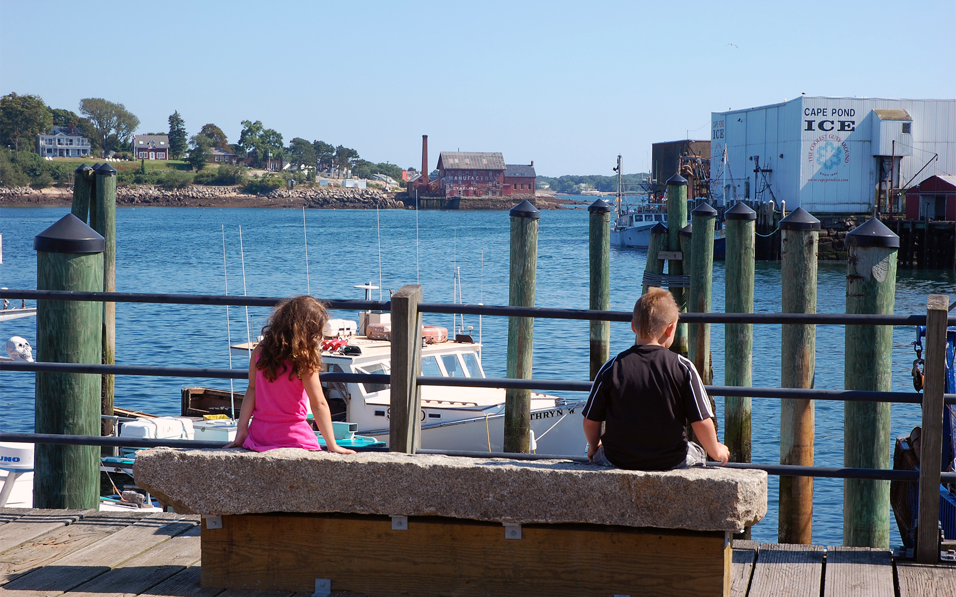 Boy and Girl at the Harborwalk