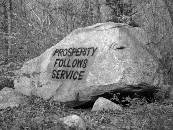 prosperity follows service